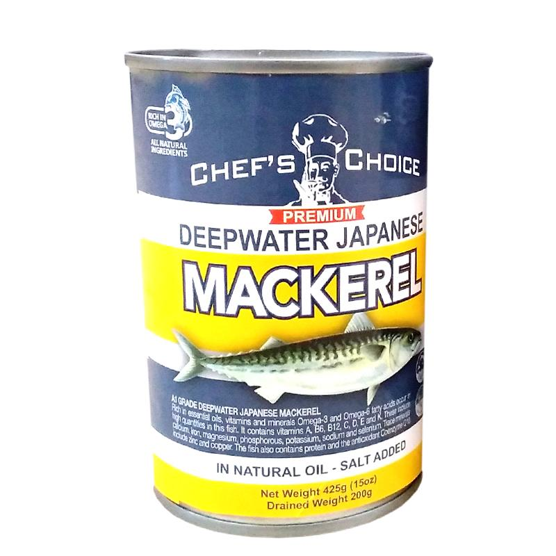 "Chef's Choice Mackerel Natural Oil ""PICKUP FROM FARMER JOE SUPERMARKET UPOLU ONLY "" Farmer Joe Supermarket"