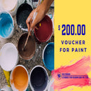 $200 Tala Gift Card for Paint Bluebird Lumber