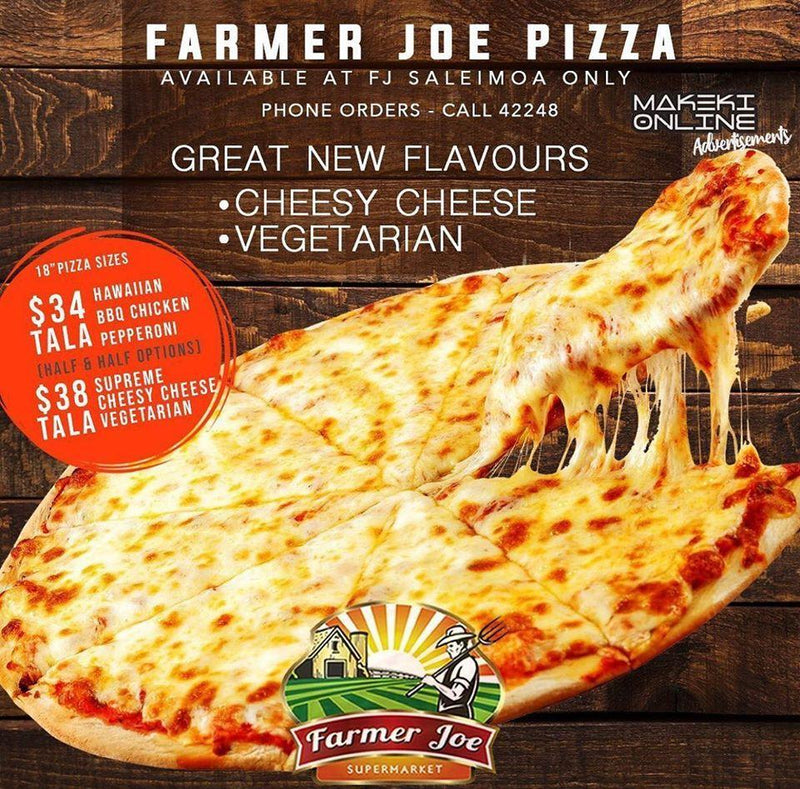"Cheesey Cheese Pizza ""PICKUP FROM SALEIMOA FARMER JOE SUPERMARKET ONLY"" Farmer Joe Supermarket"