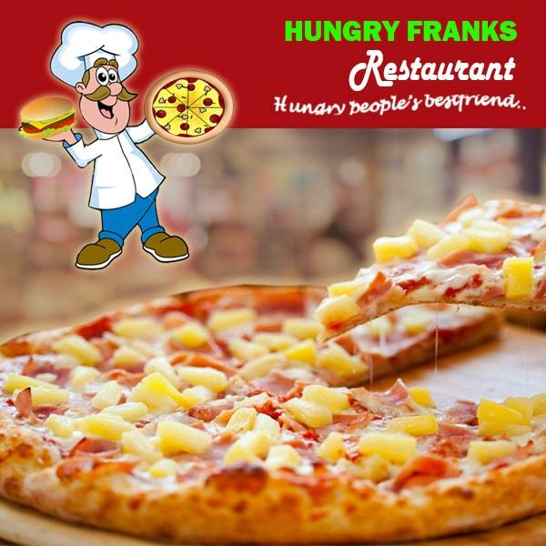 "Hawaiian Pizza - Large ""PICKUP FROM HUNGRY FRANKS, UPOLU ONLY"" Hungry Franks"