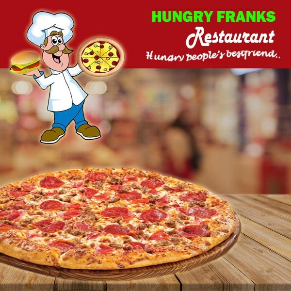 "Meat Lovers Pizza - Large ""PICKUP FROM HUNGRY FRANKS, UPOLU ONLY"" Hungry Franks"