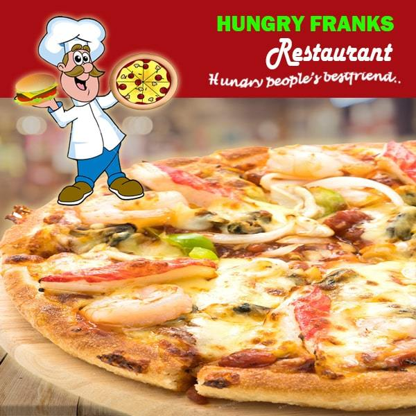 "Seafood Pizza - Large ""PICKUP FROM HUNGRY FRANKS, UPOLU ONLY"" Hungry Franks"