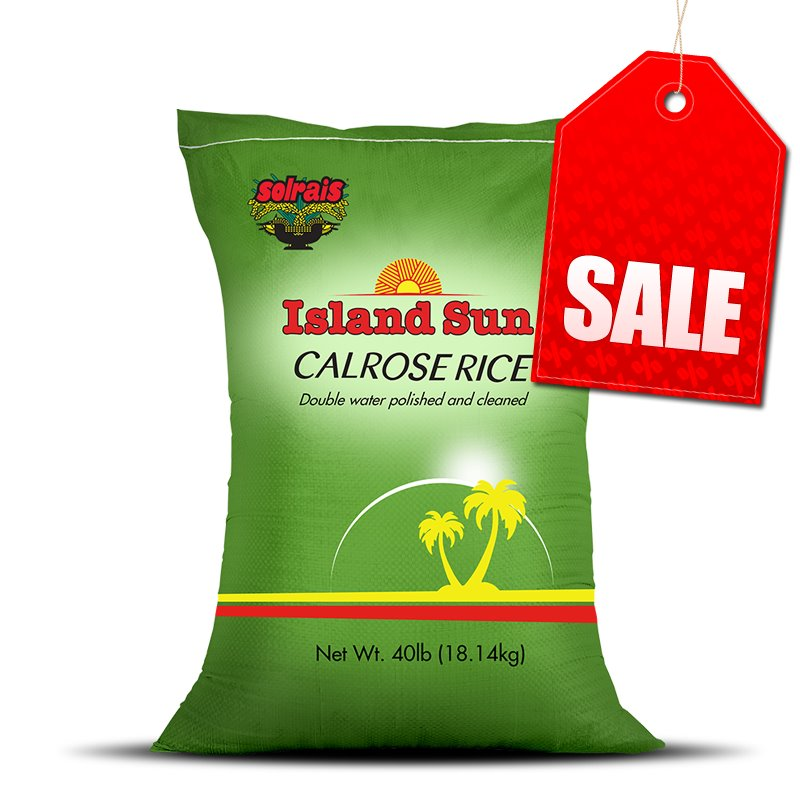 "Island Sun Rice 40lb Bag MAY NOT BE AVAILABLE AT SOME BRANCHES ""PICKUP FROM AH LIKI WHOLESALE"" Ah Liki Wholesale"