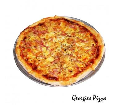 "Large Hawaiian Pizza ""PICKUP FROM GEORGIES PIZZA TAUFUSI"" Georgies Pizza"