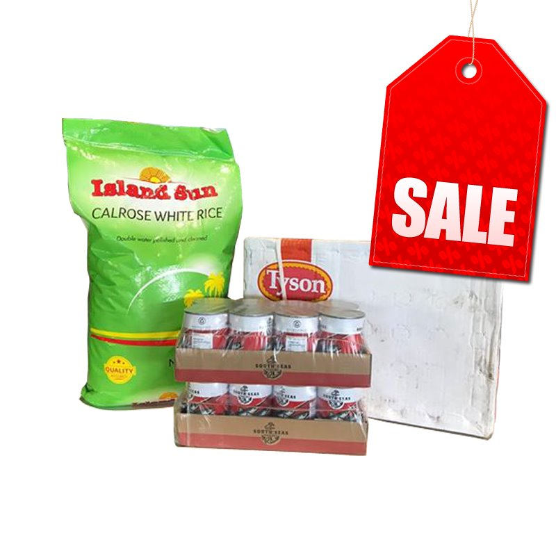 "Multi Buy Basic Bulk Pack [NOT AVAILABLE AT SOME BRANCHES] (1 x Rice40lbs, 1 x Carton Chicken 15kg, 2 x 8Pack Sardines Natural Oil) ""PICKUP FROM AH LIKI WHOLESALE"" Ah Liki Wholesale"