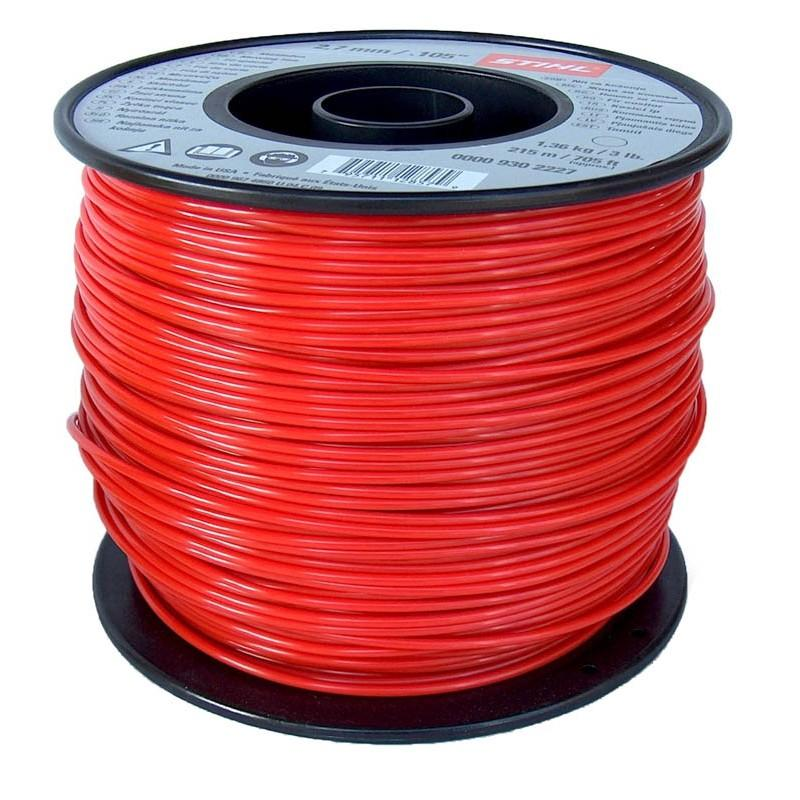 NYLON FS Line Round 2.7mm RED-STIHL - 10 METRES ONLY