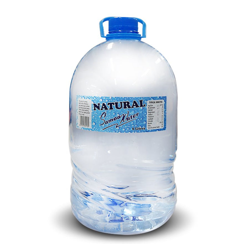 "Natural Samoa Water 6 Litre Bottle ""PICKUP FROM AH LIKI WHOLESALE"" Ah Liki Wholesale"