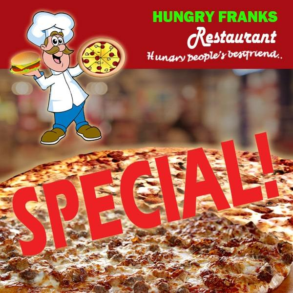"$20Tala Special Small BBQ Chicken or Mushroom Pizza - SMALL ""PICKUP FROM HUNGRY FRANKS, UPOLU ONLY"" Hungry Franks"