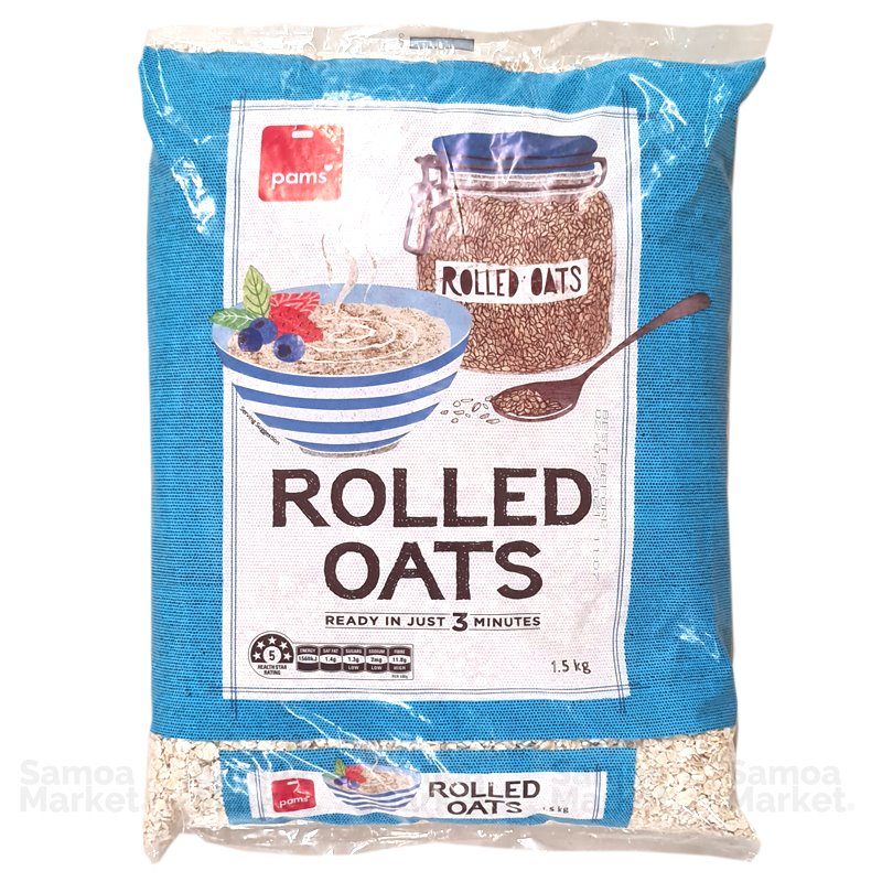 "Pams Rolled Oats 1.5kg ""PICKUP FROM FARMER JOE SUPERMARKET UPOLU ONLY"" Farmer Joe Supermarket"