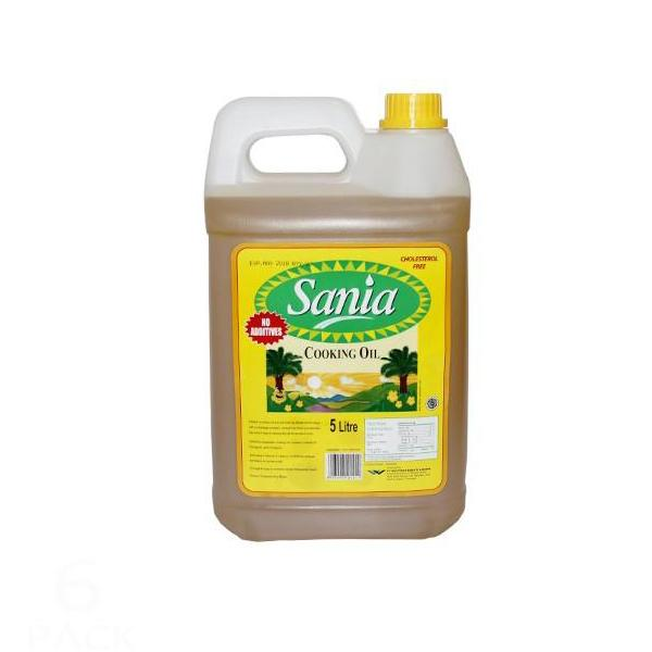 "Sania Cooking Oil 5 Litre (Replace with Golden Foods 5L if unavailable) - ""PICKUP FROM AH LIKI WHOLESALE UPOLU MA SAVAII"""""