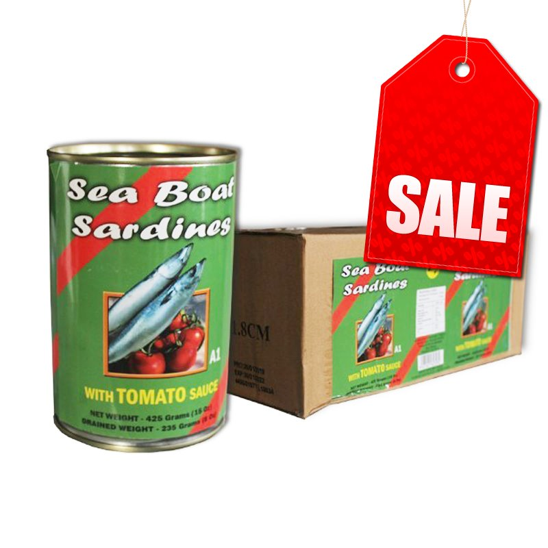 "Seaboat/Sea Star/Three Star/South Seas Sardines T/Sauce 8x425g ""PICKUP FROM AH LIKI WHOLESALE"" Ah Liki Wholesale"