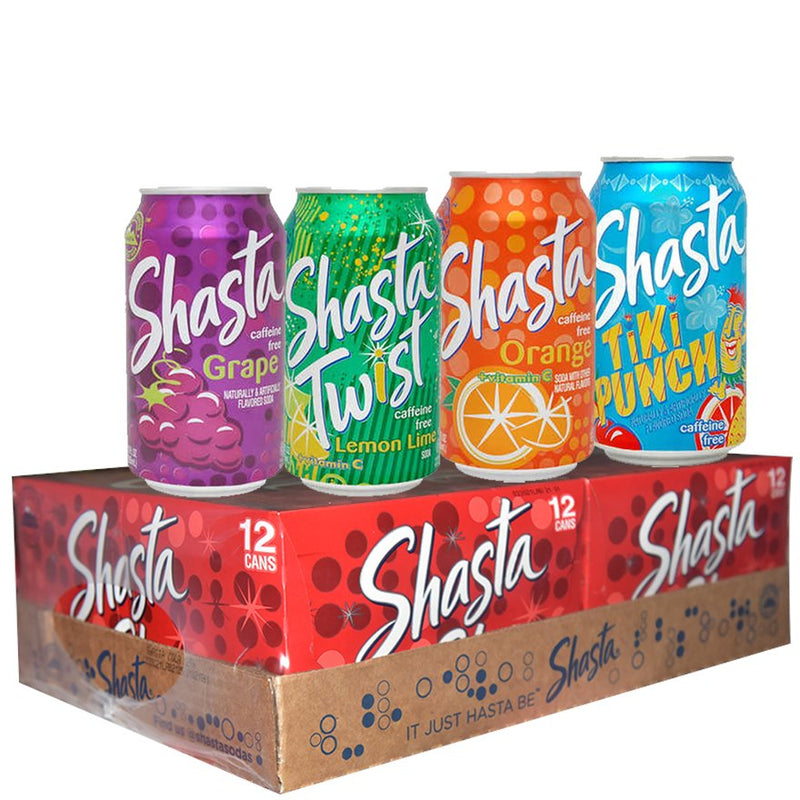 "Shasta Soda 24x355mls (12oz) Assorted ""PICKUP FROM AH LIKI WHOLESALE"" Ah Liki Wholesale"