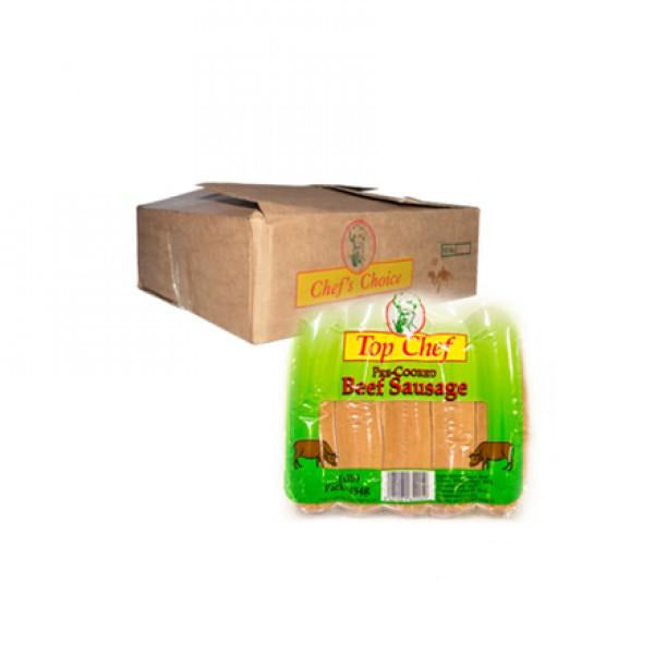 "Top Chef Precooked Sausage 12x1lb ""PICKUP FROM AH LIKI WHOLESALE"" Ah Liki Wholesale"
