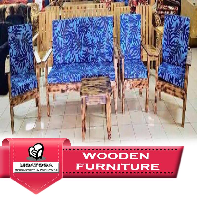"Wooden living set design with Cushions ""PICKUP FROM MOATOGA AT FUGALEI, UPOLU & SALELOLOGA, SAVAII"" Furniture Moatoga Upholstery & Furniture"