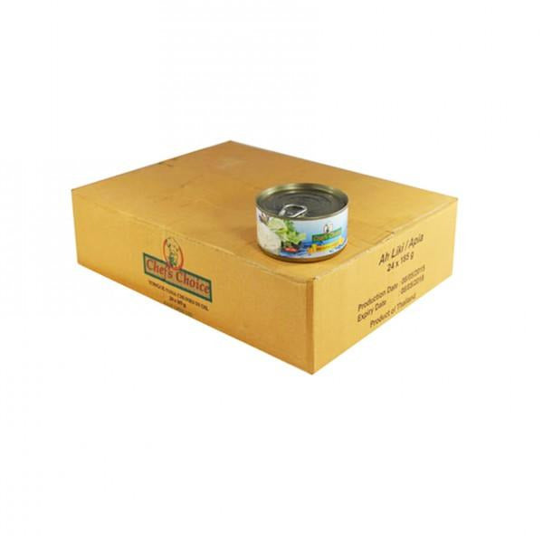 "Chefs Choice Tuna in Oil 24x185g ""PICKUP FROM AH LIKI WHOLESALE"" Ah Liki Wholesale"