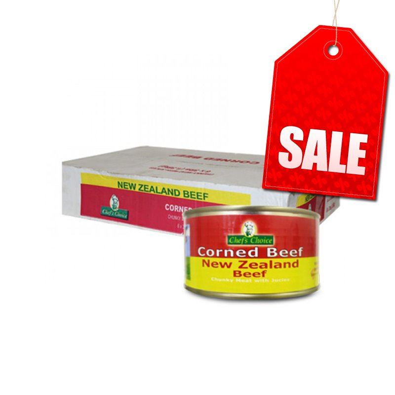 "Chefs Choice Corned Beef 2 x 3lb (1.36kg) ""PICKUP FROM AH LIKI WHOLESALE"" Ah Liki Wholesale"