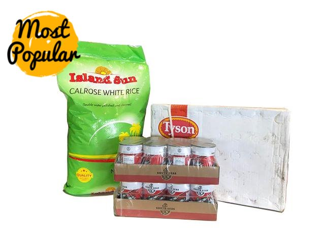 "Multi Buy Basic Bulk Pack [NOT AVAILABLE AT SOME BRANCHES] (1 x Rice40lbs, 1 x Carton Chicken 15kg, 2 x 8Pack Sardines TSauce) ""PICKUP FROM AH LIKI WHOLESALE"" Ah Liki Wholesale"