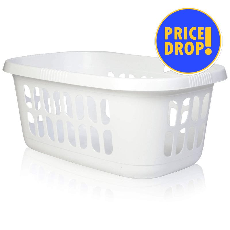 "BASKET LAUNDRY 35L WHITE L&C - Substitute if sold out ""PICKUP FROM BLUEBIRD LUMBER & HARDWARE"" Bluebird Lumber"