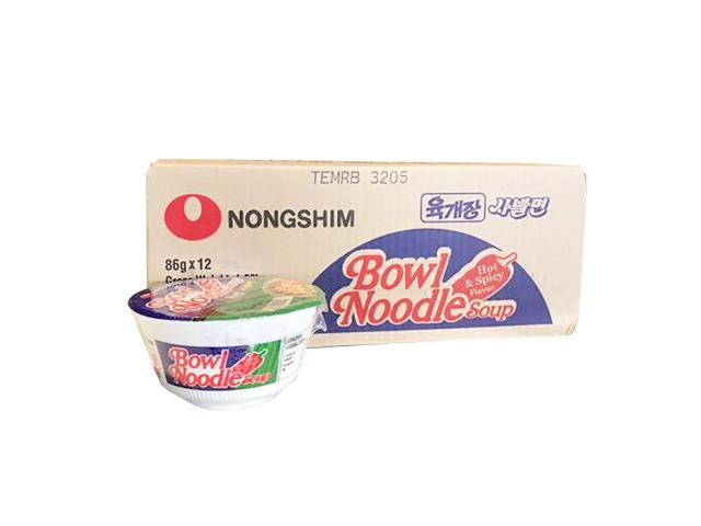 "Nongshim Bowl Noodles 12x86g Assorted ""PICKUP FROM AH LIKI WHOLESALE"" Ah Liki Wholesale"