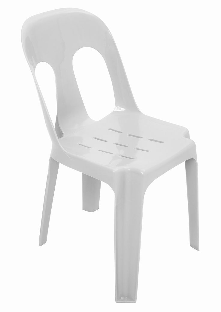 "Pipee Chair Plastic White - Substitute if sold out ""PICKUP FROM BLUEBIRD LUMBER & HARDWARE"" homewear Bluebird Lumber"