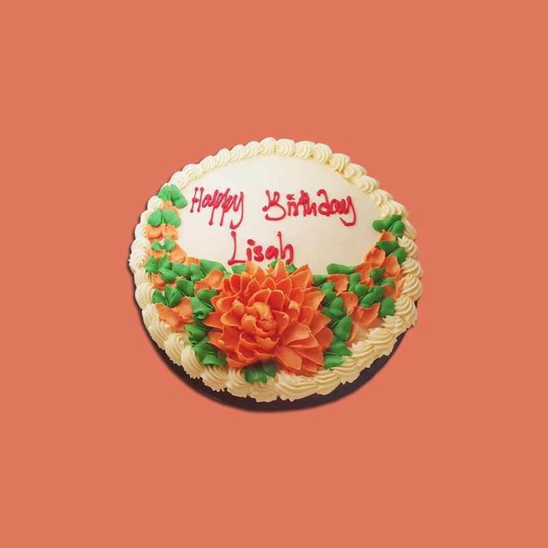 "Small 11"" Round Birthday Cake Top Only Decor from Terri's Cakes, Taufusi (24HRS NOTICE REQUIRED, PICKUP UPOLU ONLY) Terris Cakes, Taufusi"