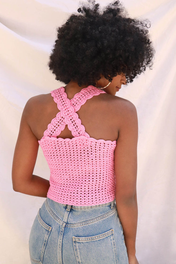 TOP CROCHET LUCETTE - ROSE