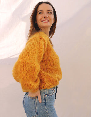 LE PULL EN MAILLE JANINE - OCRE