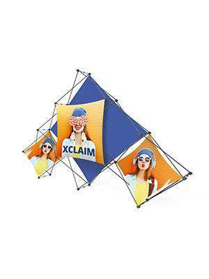 Exhibition Stand Fabric - Xclaim Pyramid 6 Quad | Xclaim