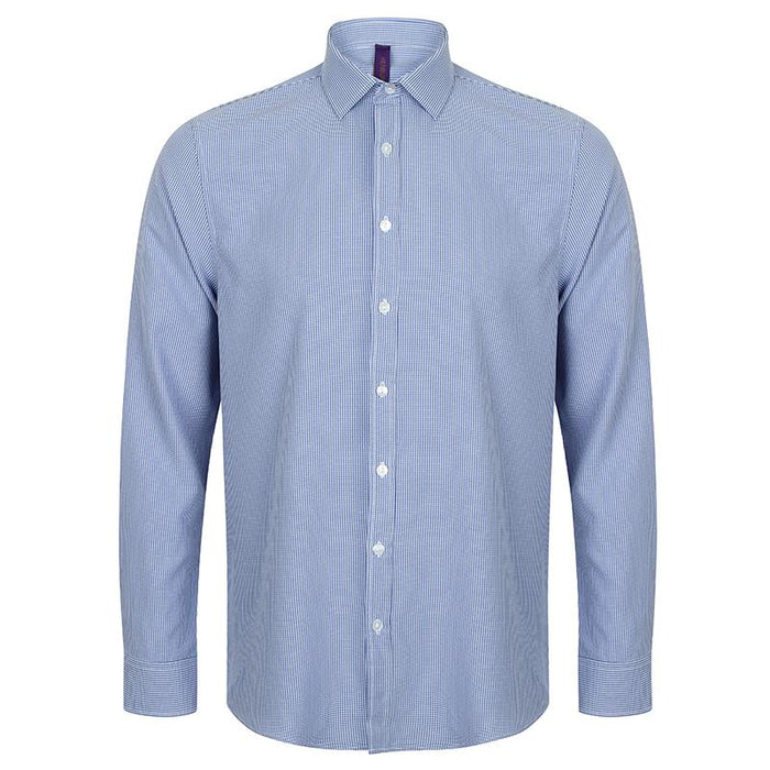 Gingham Pufy wicking long sleeve shirt - Spontex Workwear