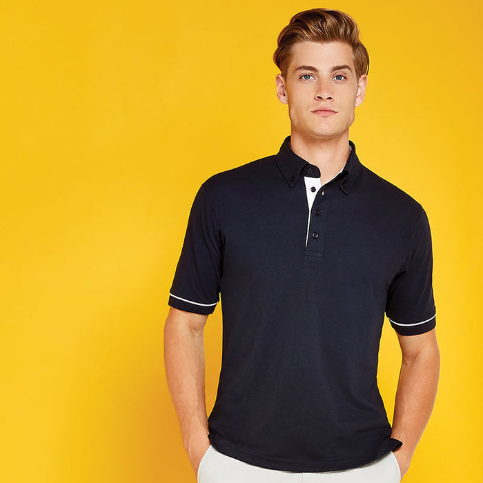 Button-down collar contrast polo (classic fit)