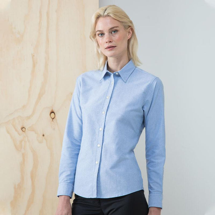 Women's classic long sleeve Oxford shirt - Spontex Workwear