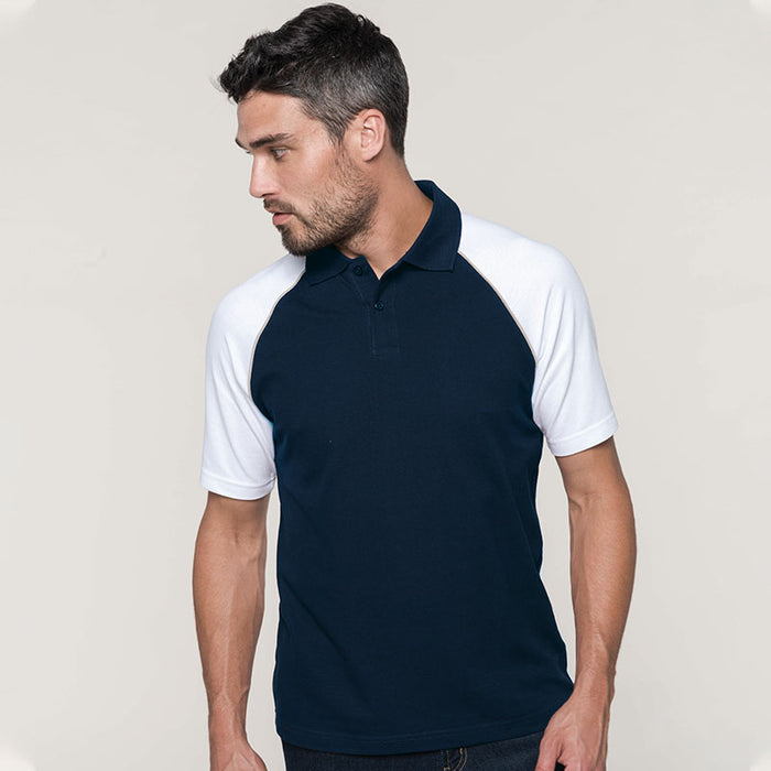 Polo baseball contrast polo shirt