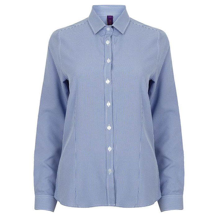 Women's gingham Pufy wicking long sleeve shirt - Spontex Workwear