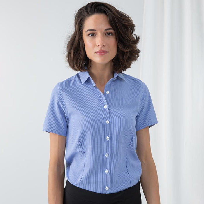 Women's gingham Pufy wicking short sleeve shirt - Spontex Workwear