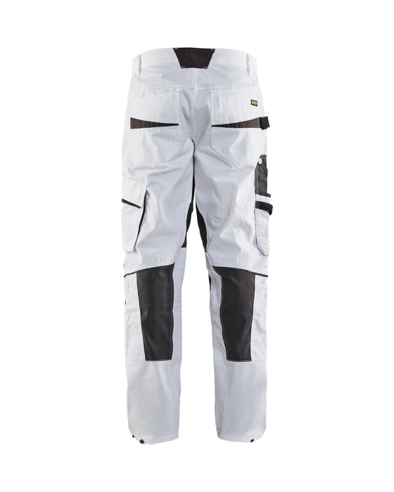 BLÅKLÄDER Painter Trouser with knee pocket Unite White/Dark grey