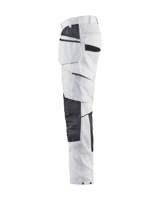 BLÅKLÄDER Painter Trouser with Hanging tool pockets  Unite White/Dark grey