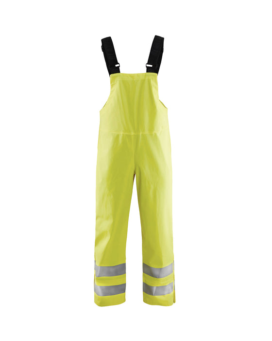 BLÅKLÄDER Rain bib trousers, High Vis Class2  LEVEL 3 Yellow