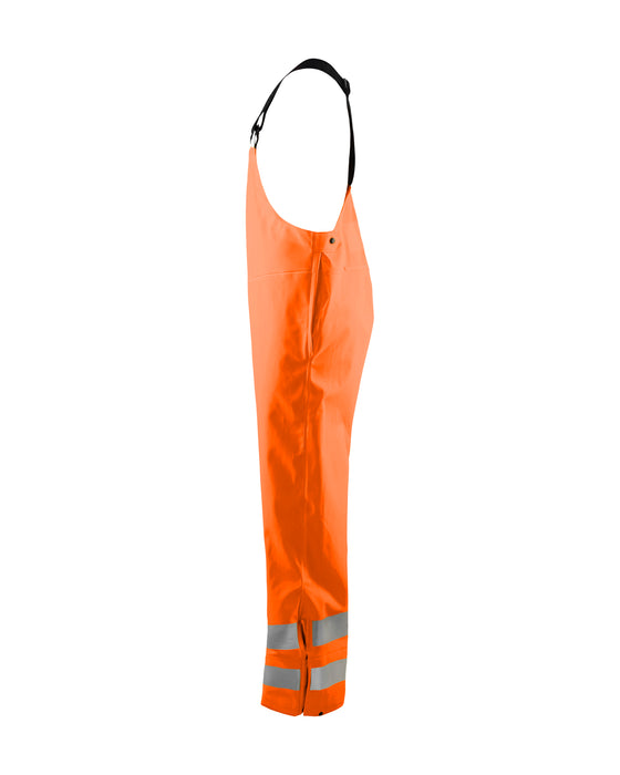 BLÅKLÄDER Rain bib trousers, High Vis Class2  LEVEL 3 Orange