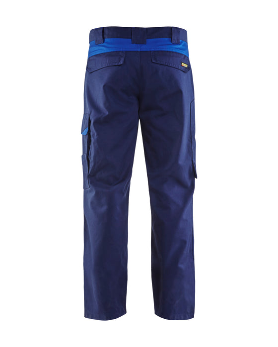 BLÅKLÄDER Industry trousers Navy blue/Cornflower blue