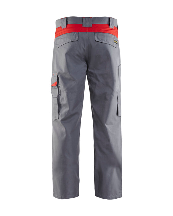 BLÅKLÄDER Industry trousers Grey/Red