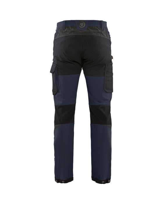 BLÅKLÄDER Service trouser 4way Stretch Dark navy/black