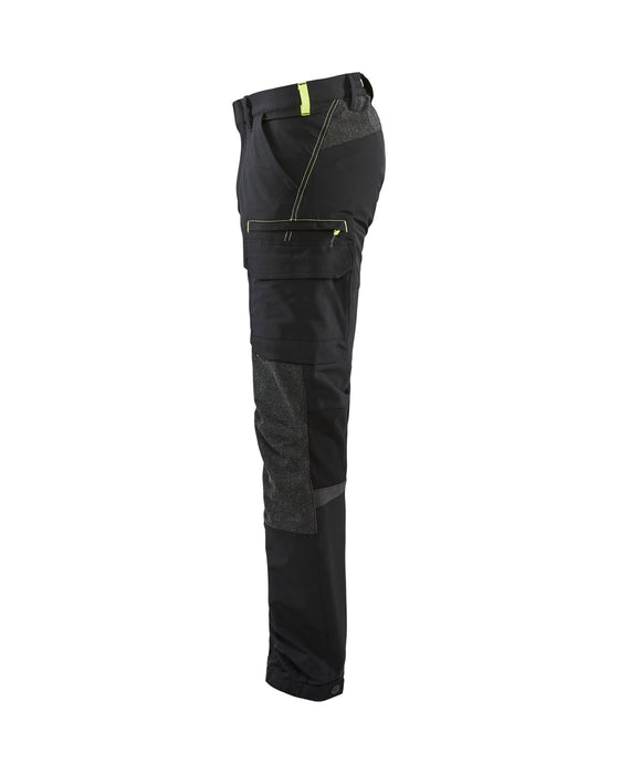 BLÅKLÄDER Service trouser 4way Stretch Black/Yellow