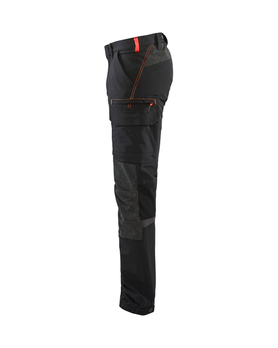 BLÅKLÄDER Service trouser 4way Stretch Black/Red