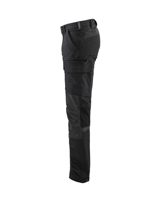 BLÅKLÄDER Service trouser 4way Stretch Black/Dark grey