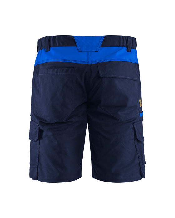 BLÅKLÄDER Industry Shorts Navy blue/Cornflower blue