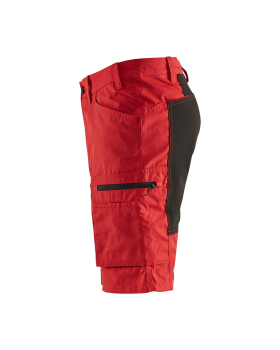 BLÅKLÄDER Service shorts with stretch panels Red/Black