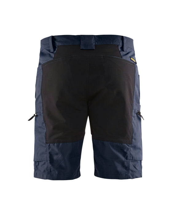 BLÅKLÄDER Service shorts with stretch panels Dark navy/black