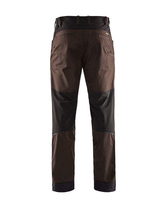 BLÅKLÄDER Transport Service trousers with stretch panels Brown/Black