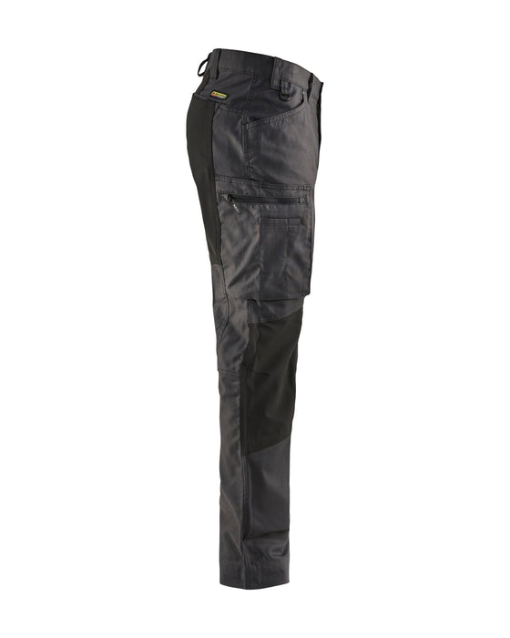 BLÅKLÄDER Service trousers with stretch panels Darkgrey/black