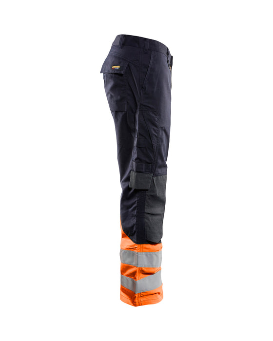 BLÅKLÄDER Inherent Multinorm trousers class 1 Navy blue/orange